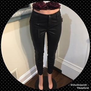 🐾Blank NYC Black Faux Leather Moto Pants🐾
